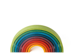 Rainbow Naef. Conctruction game and wooden object. Designed by Heiko Hillig.
